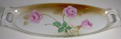 RARE Vtg R S TILLOWITZ SILESIA GERMANY GERMAN FLORAL ROSES OBLONG Condiment TRAY