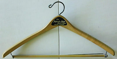 Vintage Advertising Wood Suit Hanger – Jon-n-Jax Men's Shop, Laramie, Wyoming