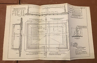1910 Panama Canal Sketch Diagram Shows 100,000 Gallon Reservoir Naos Island