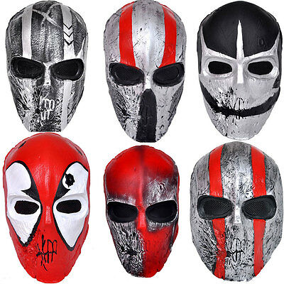 New Full Face Protection Terror Skull Mask Airsoft CS Paintball 6 Colors #187