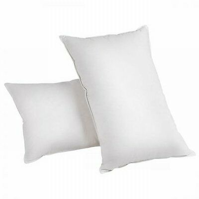 NEW 2x White Duck Feathers Down Pillow, 100% Cotton Casing with Storage Bag