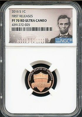 2016 S Lincoln Penny FIRST RELEASES NGC PF70 RD Ultra Cameo PORTRAIT