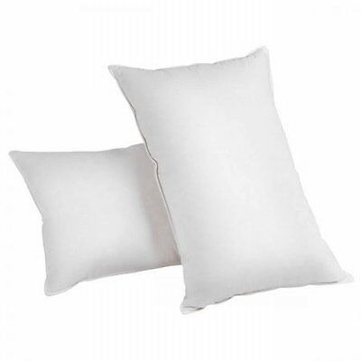 NEW 2x Duck Feather & Down Pillows, 100% Cotton Casing, Hypo-allergy Free- White