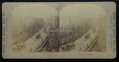 Stereo View Of Queen Victoria's Diamond Jubilee Procession