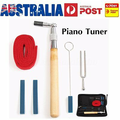 Professional Piano Tuning Hammer Mute Repair Tools Hardwood Handle Kit With Case