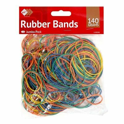 250pcs Elastic Bands Coloured Rubber Bands Ideal For Home School Office 140g