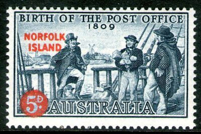 Norfolk Island 1959 5d Post office Mint Hinged
