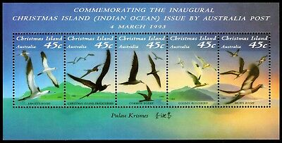 Christmas Island 1993 Birds Miniature Sheet Mint Unhinged