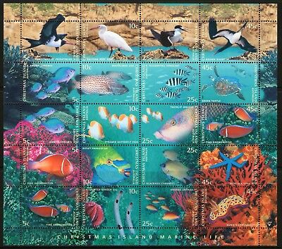 Christmas Island 1998 Marine Life Sheet Mint Unhinged