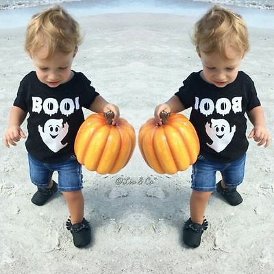Unisex Baby Toddler Kids Halloween Costume T Shirt Cotton Tee Tops Clothes 0-5Y
