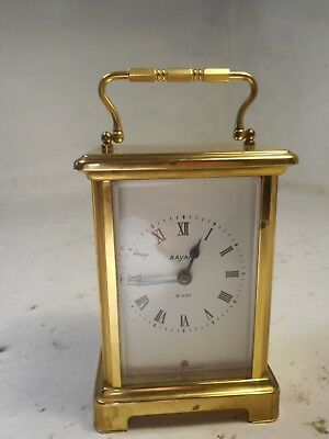 Vintage Brass 8 day Carriage Clock 4196