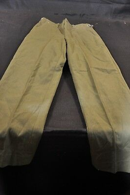 Korean War US Army Trousers Field Wool Serge 1952 Mfg. Long Small & Good Issued