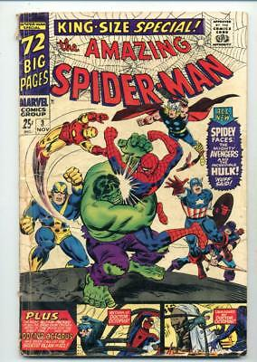 Amazing Spider-Man Special #3     Avengers Hulk Doc Ock Appearance