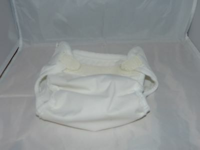 Small Bummis White diaper cover wrap (8-15 pounds) VGUC