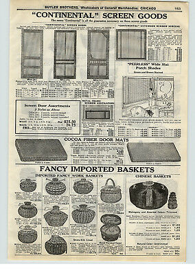 1928 PAPER AD Shida Silk Lined Chinese Hand Made Baskets Split Bamboo