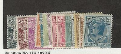 Monaco, Postage Stamp, #60//84 Mint Hinged (14 Different), 1924-33