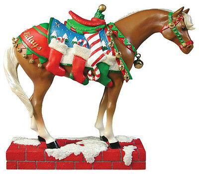 Trail of Painted Ponies HAPPY HOLIDAYS FIGURINE Retired New in Box, 1st Edition