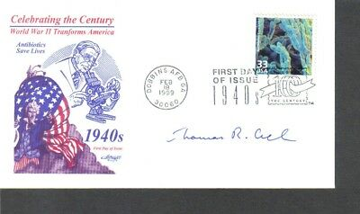 Nobel prize winner Thomas Cech signed FDC First Day Cover...