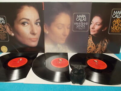 MARIA CALLAS > 3 LP's siehe foto + text > NEAR MINT