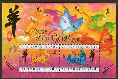 Christmas Island 2003 Year of the Goat Miniature Sheet Mint Unhinged
