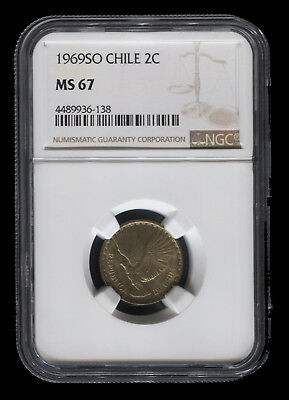 Tt 1969So Chile 2 Centesimos Ngc Ms 67 Monster Gem Only Solely Certified Example