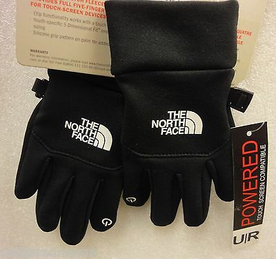 Youth The North Face Etip Glove A7LM TNF Black Size Medium