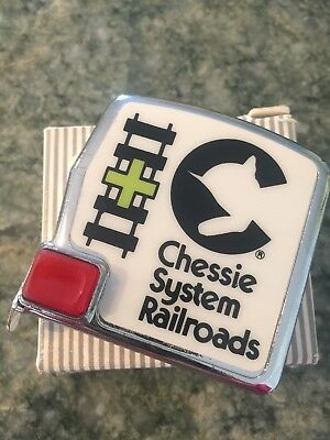 VINTAGE Rare Mint Cond CHESSIE SYSTEM RAILROADS Tape measure w/ Box