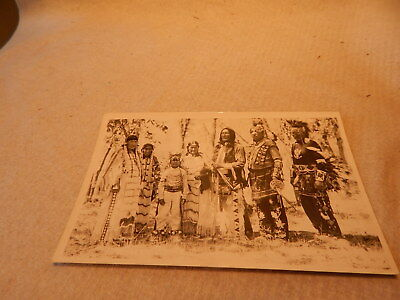 30S 40S Rppc Real Photo Postcard Great Looking Indian Family Pow Wow Bead Work