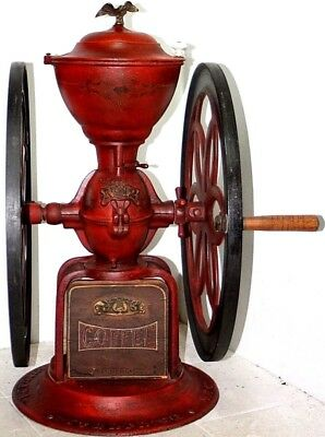 "33"" Tall Monumental 1898 Enterprise No.12 Cast Iron Country Store Coffee Grinder"