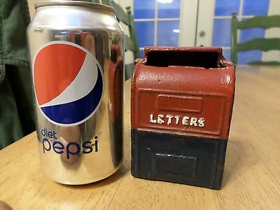 USA Post Office Letter Box, Cast Iron Metal Piggy Bank, Vintage Made