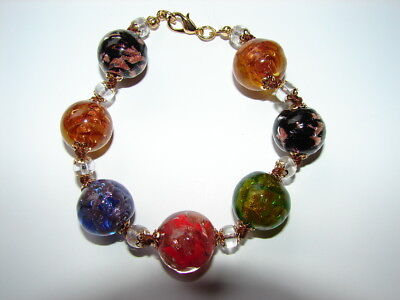 New Beautiful & Authentic Murano Glass Bracelet Made In Italy In Multi Color!