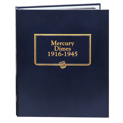New Whitman OFFICIAL CLASSIC MERCURY DIMES 1916 TO 1945 Coin Album BOOK#9118