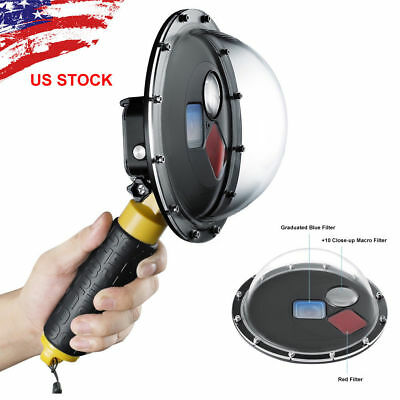 Dome Port Filter Switchable Underwater Dive Camera Lens Cover For GoPro HERO 5 6