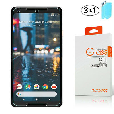 3-Pack Nacodex For Google Pixel 2 XL Tempered Glass Screen Protector