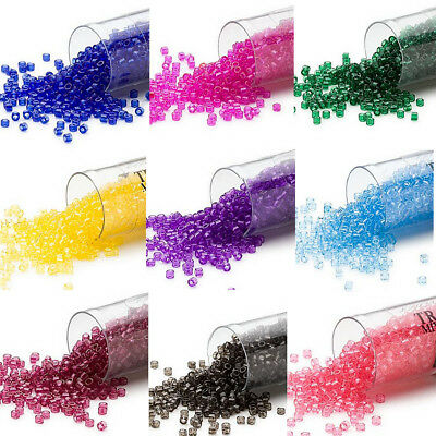 1200 Miyuki Delica # 11 Glass Seed Beads 11/0 Transparent Colors 7.2 Grams