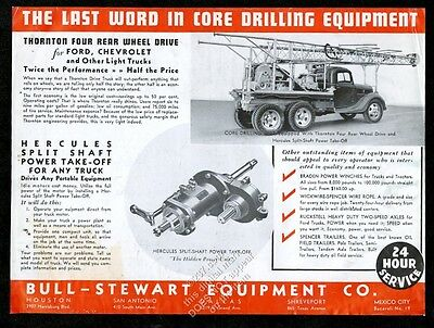 1937 Bull-Stewart oil well drilling Thornton rear 4wd drive truck trade print ad