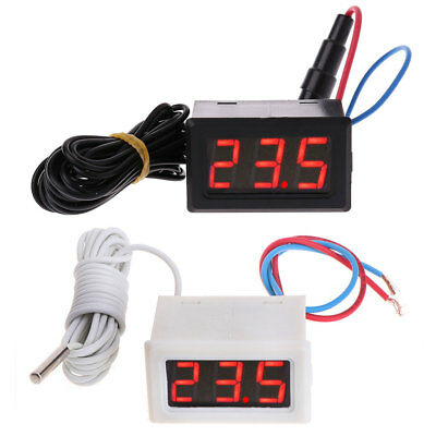 LCD Digital Display Thermometer 110V 220V 100-230V Temperature Sensor w 2m Probe