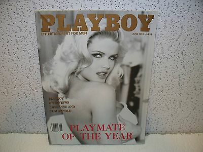 Vintage Playboy Magazine June 1993 Anna Nicole Tom Arnold & Roseanne Interview