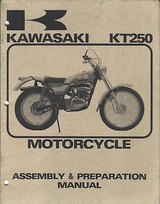Motorcycle Manual - Kawasaki - KT250 - Assembly Prep Specifications (DC596)