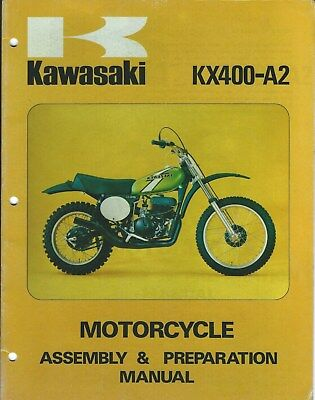 Motorcycle Manual - Kawasaki - KX400-A2 - Assembly Prep Specifications (DC599)