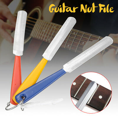 Fret Crowning Guitar Nut File Set 3 Double Sided For Guitar Bass Luthiers Tool