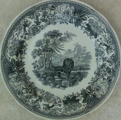 Spode Archive Collection Tradition Series Aesops Fables Black Dinner Plate - New