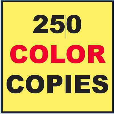 """250 Custom Printed Flyers 8.5"""" x 11"""" Color Copies + Cut To DVD Insert Size"""