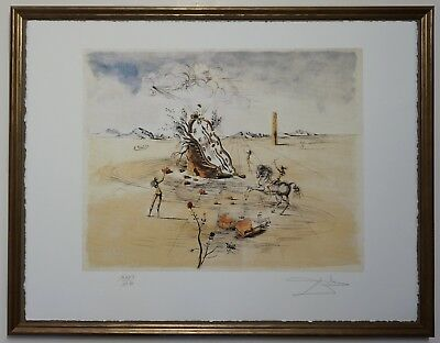 Salvador Dali 'Meting space-time' Signed Lithograph Lim. 2000 pcs.