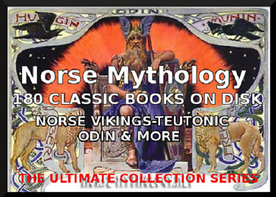 Norse Mythology-180 Classic Books On Disk-Teuton Odin Sagas Vikings
