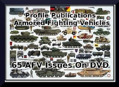 Armored Fighting Vehicles by Profile Publications 65 AFV History Books on DVD