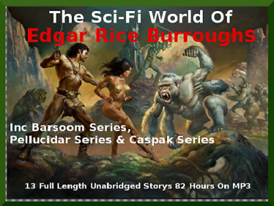SCI-FI Special -John Carter of Mars - Caspak Trilogy - Pellucidar - 82 HOURS MP3