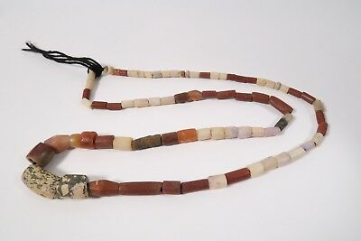 Strang alte Achatperlen A20 Karneol Old Agate Carneol Old Stone beads F Afrozip