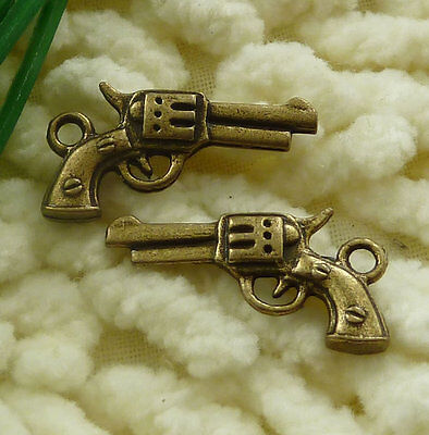 free ship 55 pieces bronze plated guitar charms 33x11mm #3176