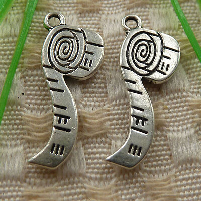free ship 52 pieces tibetan silver tobacco pipe charms 27x12mm #4107